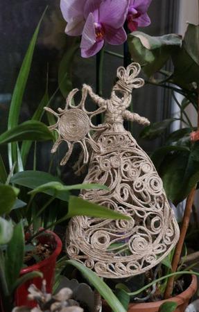 """Декор для цветочных горшков """"С Солнцем в руках"""" ручной работы на заказ"""