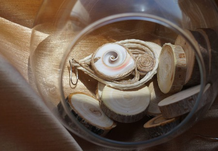 Крупные серьги из джута с ракушкой, ручной работы на заказ