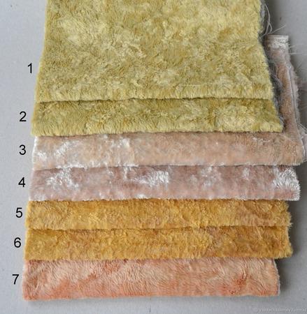 Плюш винтажный ручного окраса №13 ручной работы на заказ