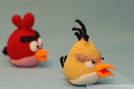 Вязаные игрушки Птички и свинка из Angry Birds ручной работы на заказ