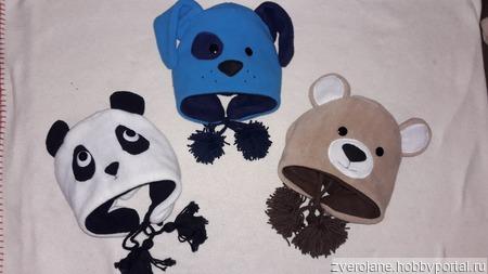 Шапка Панда ручной работы на заказ