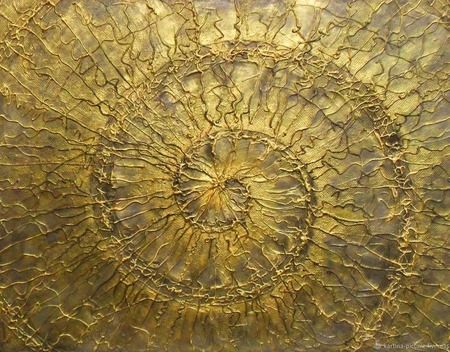 Картина абстракция Золотая спираль современный стиль контемпорари ручной работы на заказ