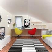 Картина и дизайн проект интерьера спальни