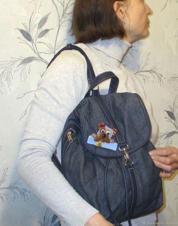 Значок на сумку рюкзак Песик. Где моя печенька. Стекло. Фьюзинг ручной работы на заказ