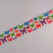 """Лента репсовая с рисунком  """"Бабочки"""" 22 мм"""