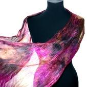 Шарф шелковый яркий разноцветный