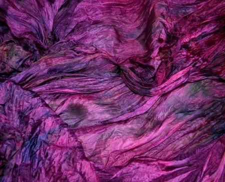 Бордовый с фиолетовым большой шарф палантин натуральный шелк ручной работы на заказ