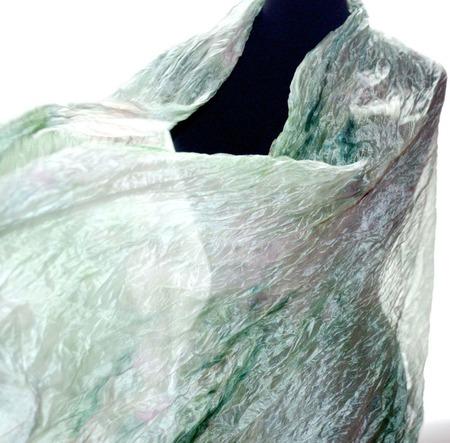 Шарф шёлковый светло зеленый с бледно розовым ручной работы на заказ