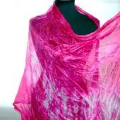 Шелковый шарф малиново розовый натуральный шелк эксельсиор