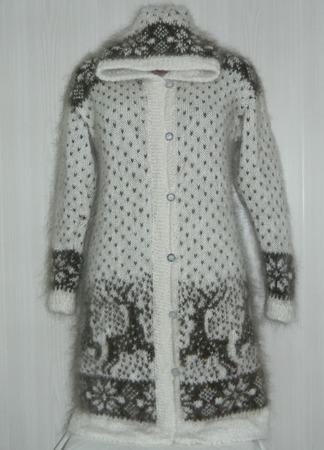 Удлиненный кардиган-пальто ручной работы на заказ