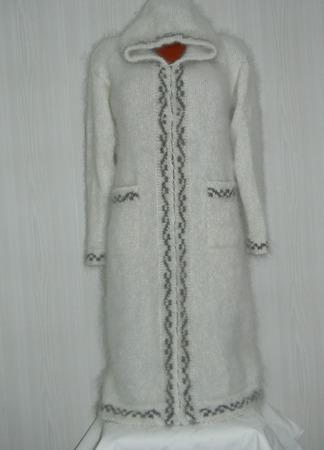 """Вязаное пальто """"Снегурочка"""" ручной работы на заказ"""