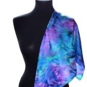 Платок шелковый жаккард весенний платок, платок на шею