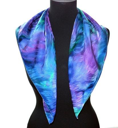 Платок шелковый жаккард весенний платок, платок на шею ручной работы на заказ