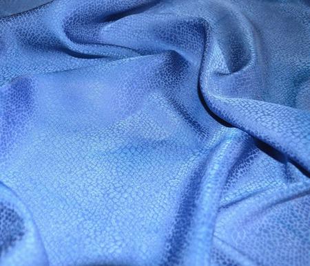 Серо голубой платок женский шейный шелковый жаккард ручной работы на заказ