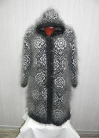 """Вязаное пальто """"Подсолнухи"""" ручной работы на заказ"""