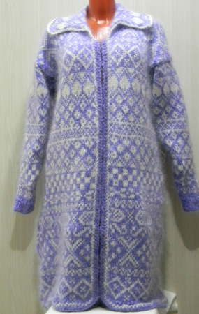 Вязаное пальто ручной работы на заказ