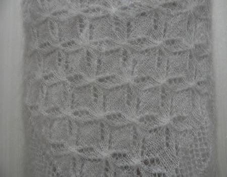"Ажурная шаль ""Бабочки"" ручной работы на заказ"