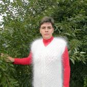 Белая ажурная жилетка-кардиган