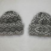Двойные шапки с отворотом