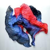Шарф женский красно сине чёрный шарф шёлк купить подарок ручной работы