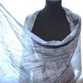 Серый шарф хлопок и шёлк купить шарф женский, подарок шарф