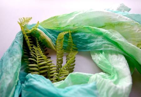 Шарфик женский шарф хлопок и шёлк акварельные цвета натуральная ткань ручной работы на заказ