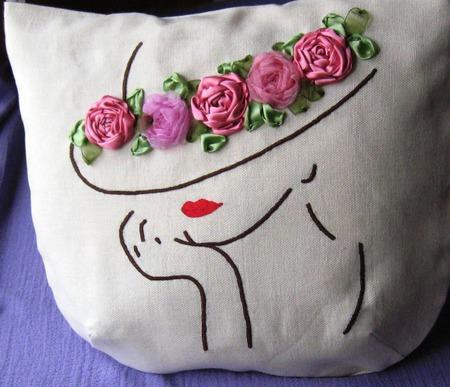 """Летняя сумка+ косметичка """"Шляпка с розами..."""" ручной работы на заказ"""