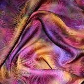 Платок пейсли восточный огурец яркий женский шейный шелковый жаккард
