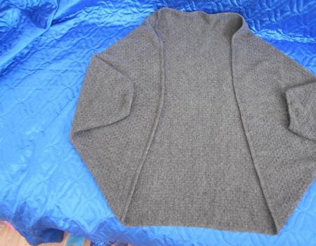 Кардиган-накидка Серый ручной работы на заказ