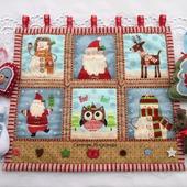 """Новогоднее текстильное панно """"Новый год"""""""