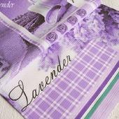 """Полотенце кухонное """"Сиреневое чудо""""с лавандой вафельное фиолетовое"""