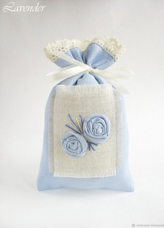 """Саше с лавандой """"Нежный цветок"""" ароматическое для белья ручной работы на заказ"""