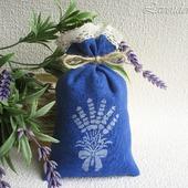 """Саше с лавандой """"Bouquet of Provence"""" ароматическое мешочек синий"""