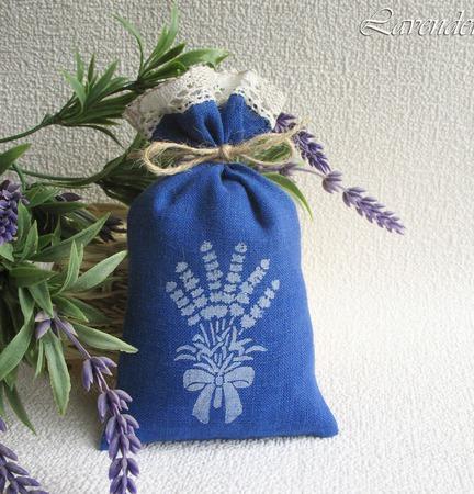 """Саше с лавандой """"Bouquet of Provence"""" ароматическое мешочек синий ручной работы на заказ"""