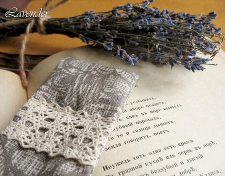 """Закладка для книг """"Винтаж"""" ароматическое саше с лавандой ручной работы на заказ"""