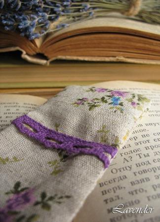 """Закладка для книг """"Провинция"""" ароматическое саше с лавандой ручной работы на заказ"""