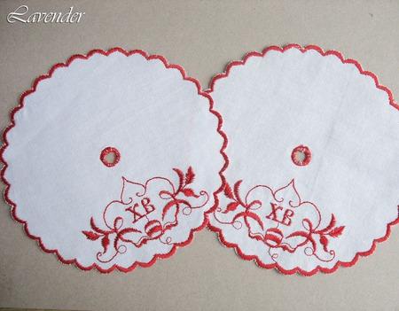 Салфетка пасхальная для кулича красная ручной работы на заказ