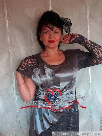 """Платье комбинированное """"Гречанка"""" ручной работы на заказ"""