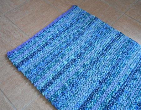 Коврик-дорожка меланж синие тона ручной работы на заказ