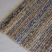 Вязаный коврик меланж экоцвет прямоугольный