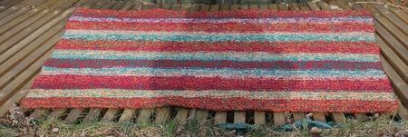 """Вязаный коврик прямоугольный """"Цветной Войлок"""" ручной работы на заказ"""