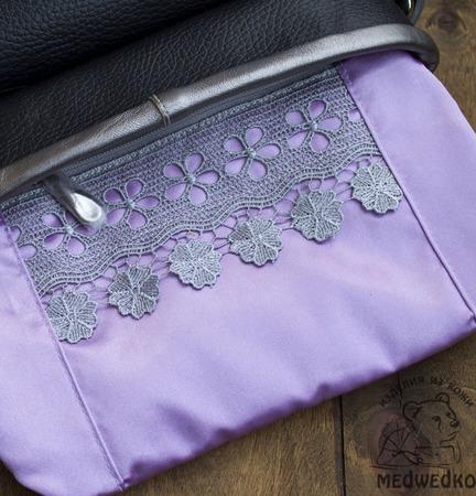 Сумка женская кожаная Серебро ручной работы на заказ