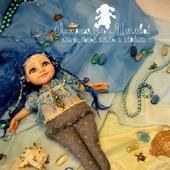 Русалочка.Будуарная кукла. Кукла-болтушка. Кукла из полимерной глины