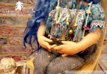 Русалочка.Будуарная кукла. Кукла-болтушка. Кукла из полимерной глины ручной работы на заказ
