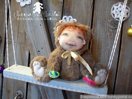 """Текстильная кукла """"Миха мой"""". Тедди-долл ручной работы на заказ"""