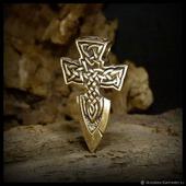"""Кулон-подвеска """"Кельтский Крест - Меч"""" бронза авторская"""