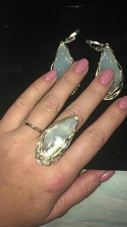 Хризопраз Казахстан Комплект украшений ручной работы на заказ