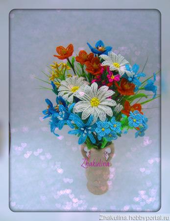 """Цветочная композиция """"Полевые цветы"""" ручной работы на заказ"""
