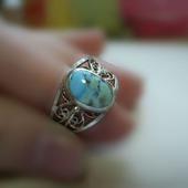 Кольцо с бирюзой природной Казахстан
