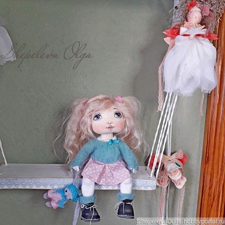 Текстильная кукла. Маленькая текстильная кукла. ручной работы на заказ